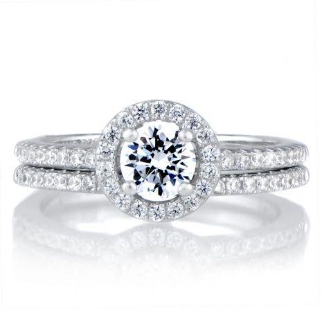 Sterling Silver Cz Wedding Ring Sets | Wedding Ideas | Pinterest | Weddings