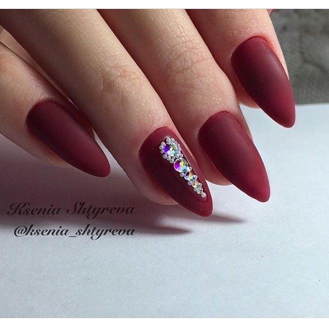 Nail Art #2763 - Best Nail Art Designs Gallery | Maroon nails, Matte ...