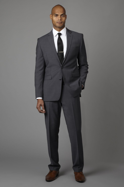4dc8036eed Lanificio F.lli Cerruti Dal 1881 Tailored Fit Plain Mohair Look Suit Grey
