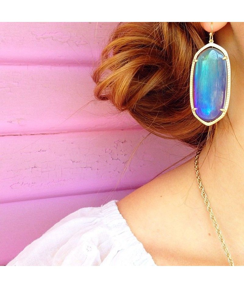 Danielle Earrings In Mystic Iridescent Kendra Scott Jewelry