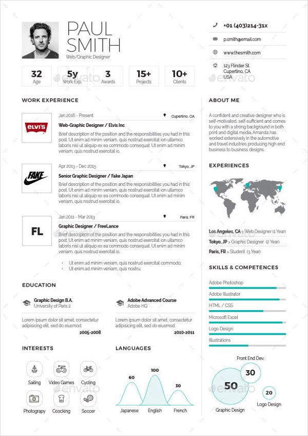 Pin by Lori Anne on Future Pinterest One page resume template