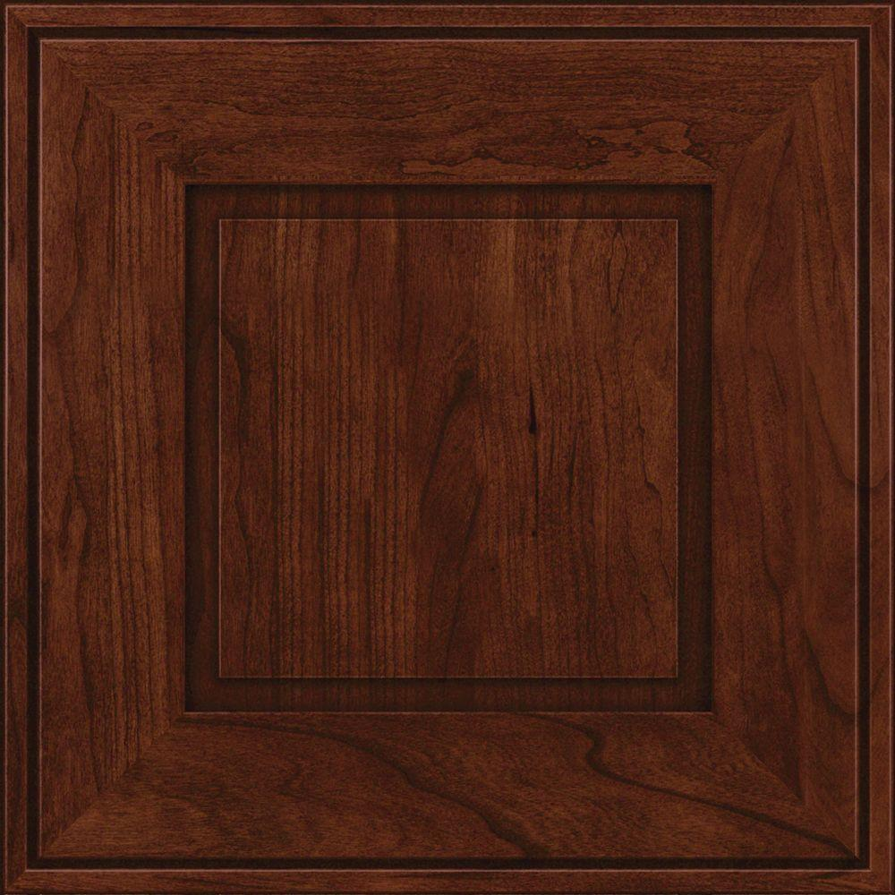 KraftMaid 15x15 in. Cabinet Door Sample in Grange Cherry Square in Kaffe-RDCDS.HD,AB1C4,KAC - The Home Depot
