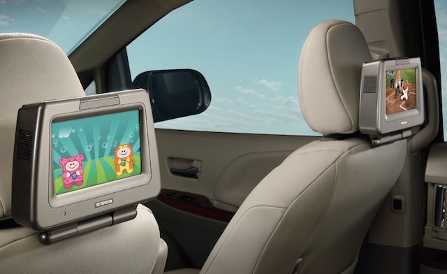 toyota rear seat entertainment system