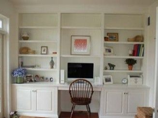 built in bookcase with computer desk - Google Search