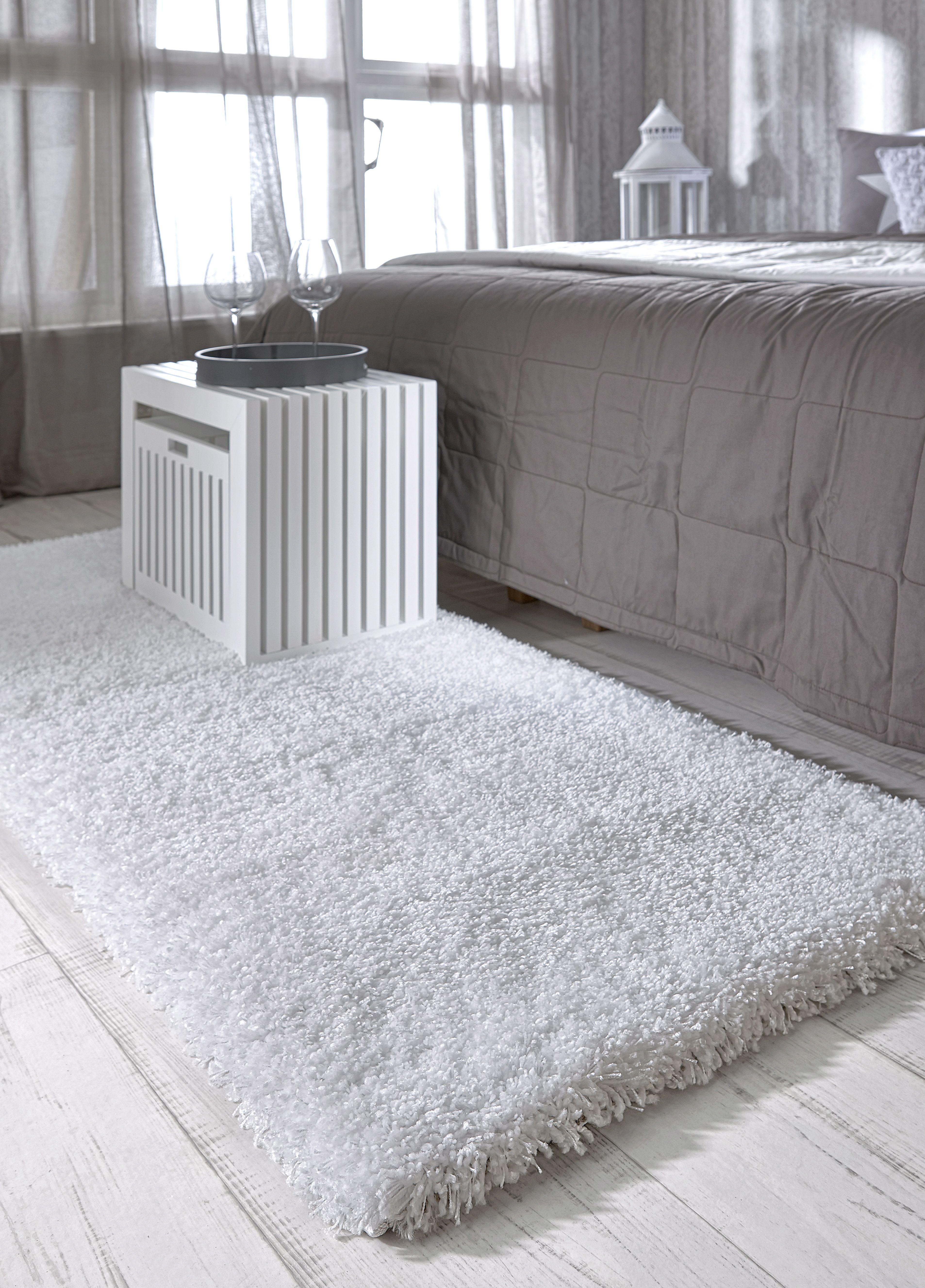 SOHO-sängynvierusmatto 60 x 110 cm. Puhtaan valkoinen