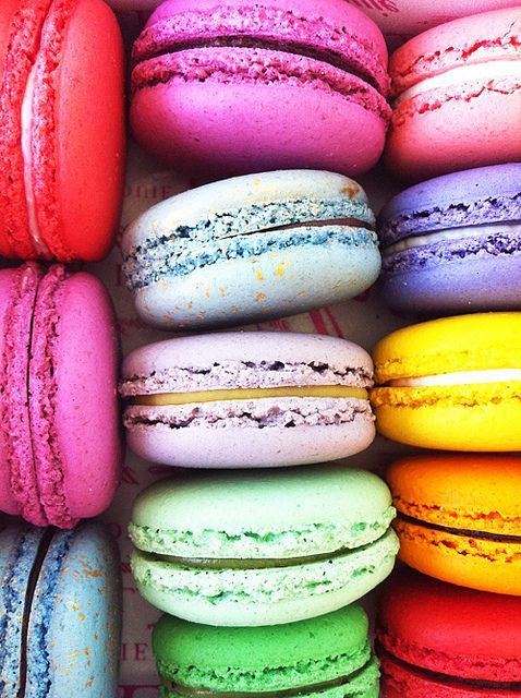 Bright Colors in 2019 | Rainbow food, Macarons, Macaroons
