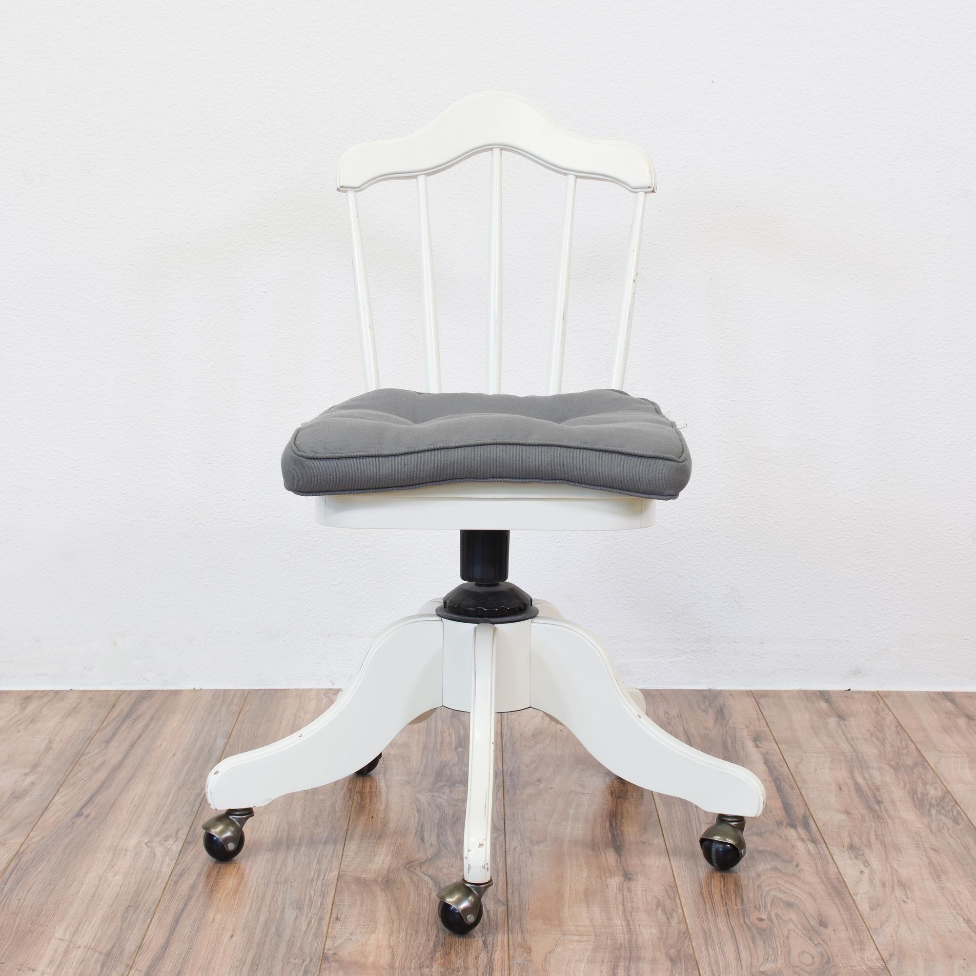 White Rolling Chair Morigeau Lepine White Rolling Office Chair Swivel Solids And
