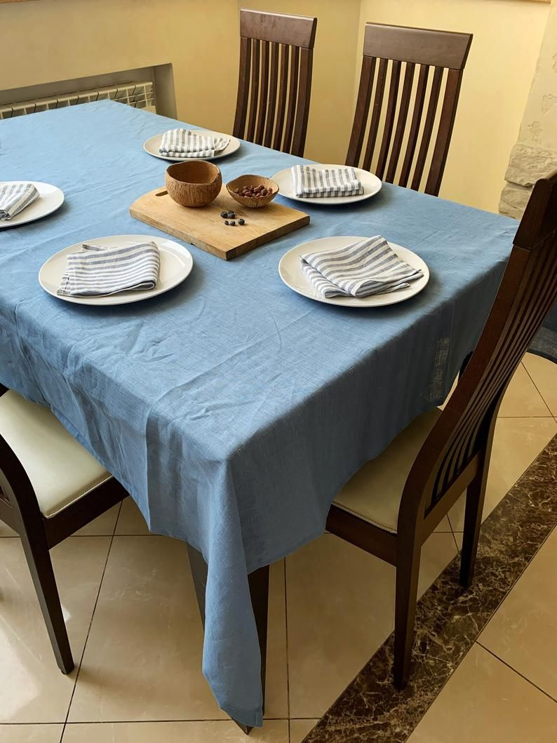 The Linen Works Washed Linen Tablecloth 110 Liked On Polyvore Featuring Home Kitchen Dining Tabl White Table Cloth Tablecloth Fabric Rectangular Table