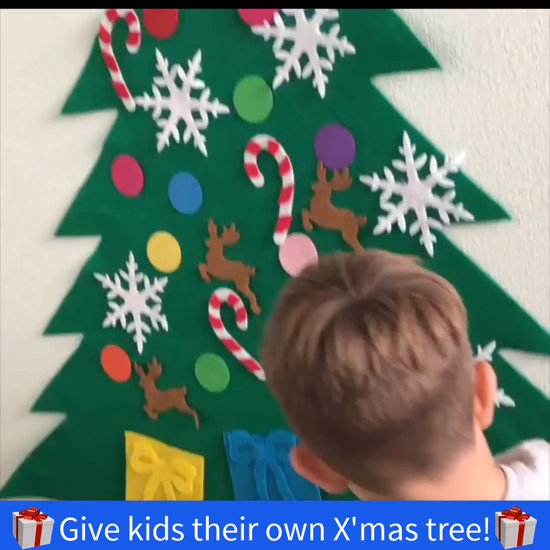 Felt Christmas Tree for Kids - X'mas SPECIAL SALE! (50% Off Holiday Sale!) #eyeshaveit