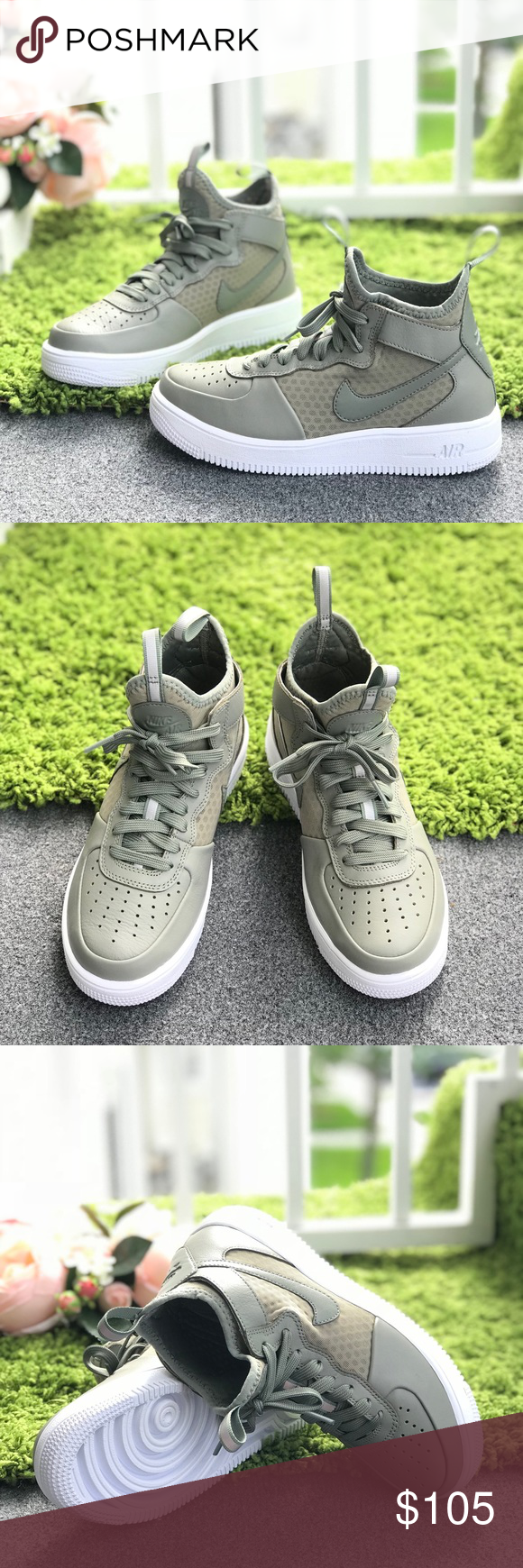 Nike Air Force 1 Ultraforce MID Dark Stucco WMNS NWT | My