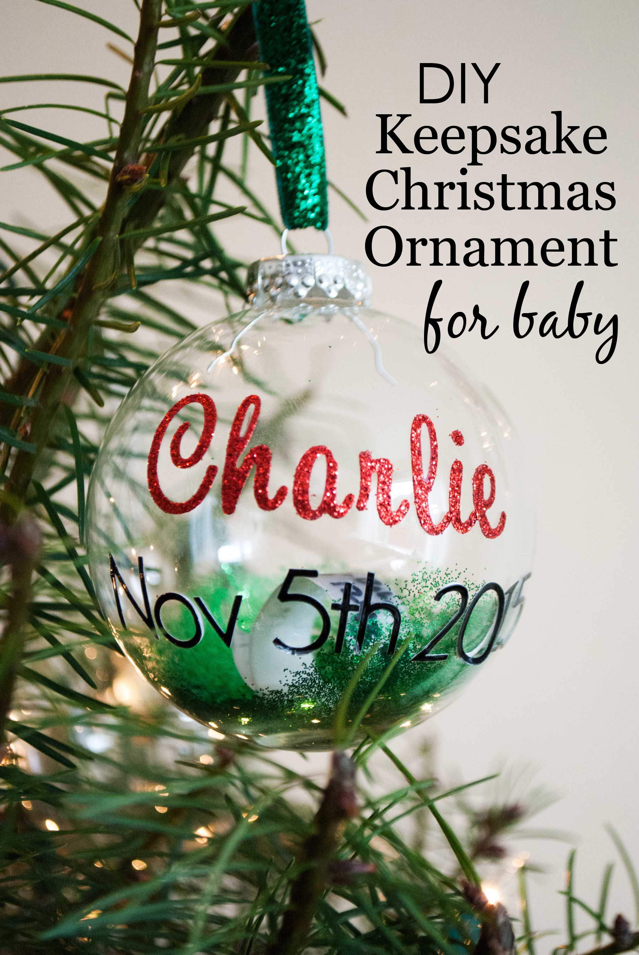 DIY: Keepsake Christmas Ornament for Baby | Christmas Ideas + ...