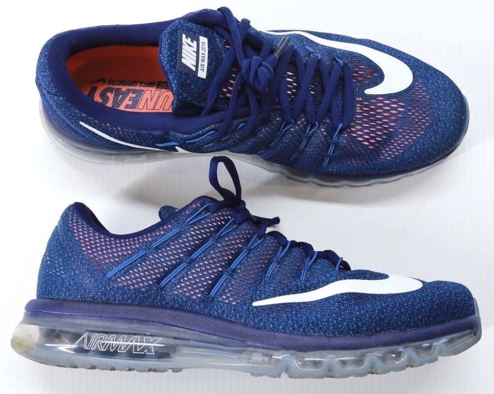 Men's Nike Air Max 2016 Athletic Sneakers Blue Running Shoes