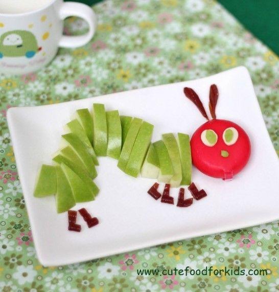 cute caterpillar plates  fun kids food kids snacks kids