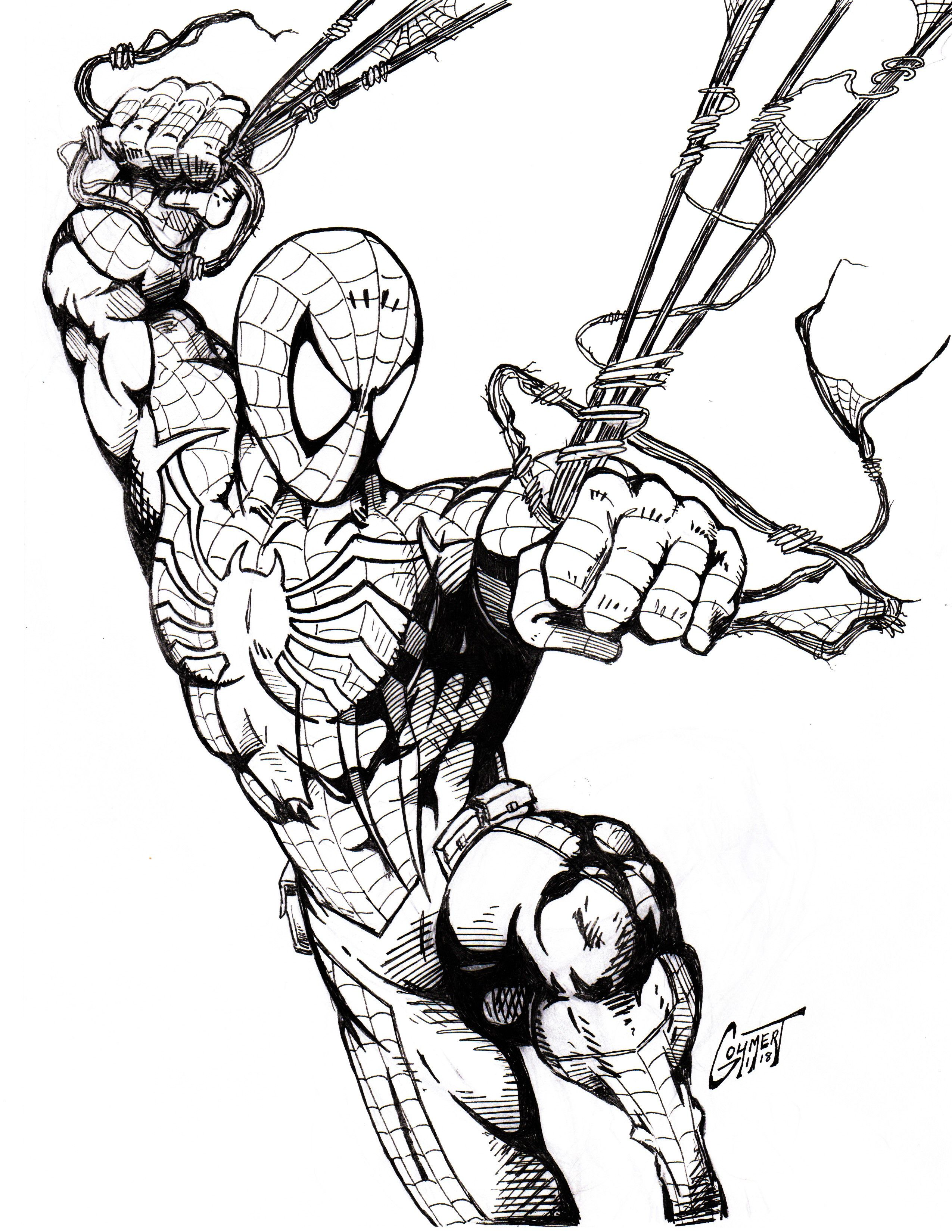 Pin By Christopher Schoch On Wps Spiderman Drawing Spiderman Coloring Black Spiderman