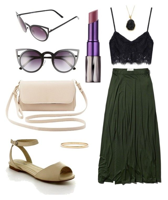 """""""Untitled #30"""" by hannahaudrey on Polyvore featuring Abercrombie & Fitch, Charlotte Russe, Quay, Urban Decay, Kate Spade, women's clothing, women, female, woman and misses"""