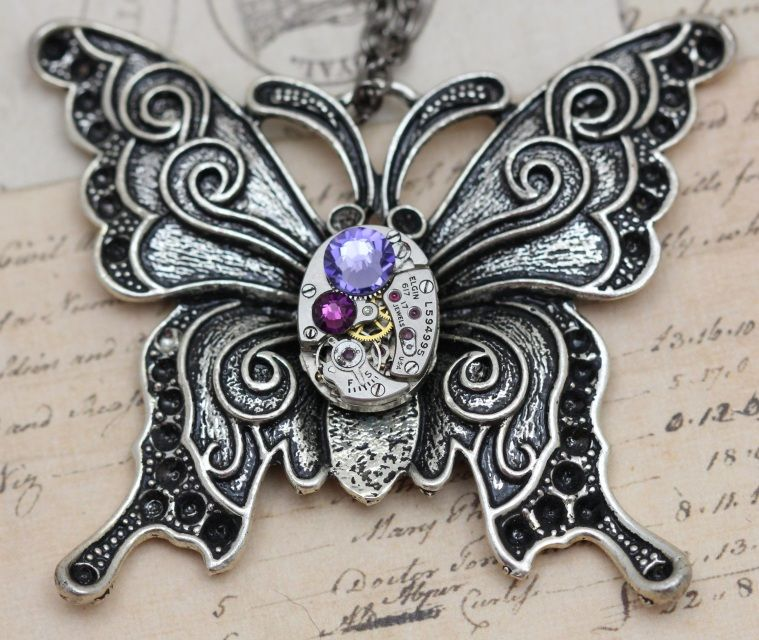 Necklaces - Steampunk Jewelry Unique Mother's Rings