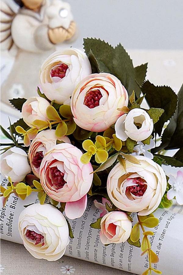 Camellia Artificial Flowers Decor In 2020 Artificial Flowers Decor Flower Decorations Artificial Flowers