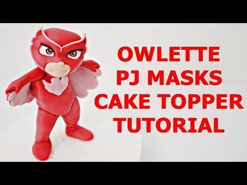 Owlette Pj Masks Cake Topper Fondant Tutorial Gufetta Super
