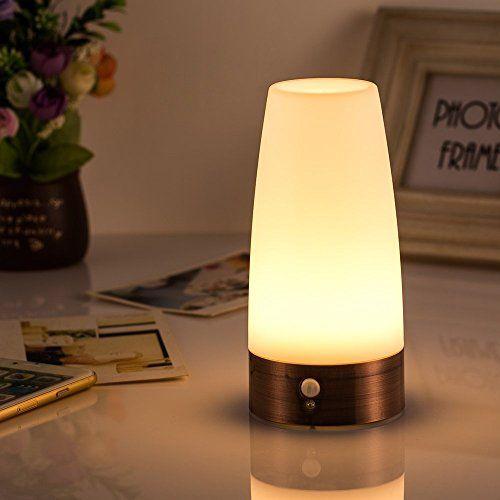 Hongjing Retro Led Night Light Wireless Pir Motion Sensor Light Activated Step Lighting Lamps Indoor Outdoor Battery Operated Table Lamps Lamp Night Light Lamp