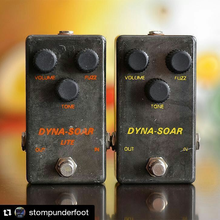 repost @stompunderfoot:  The very rare Dyna-Soar and Dyna-Soar Lite  #bigmuff #fuzz #fuzzbox #fuzzpedal