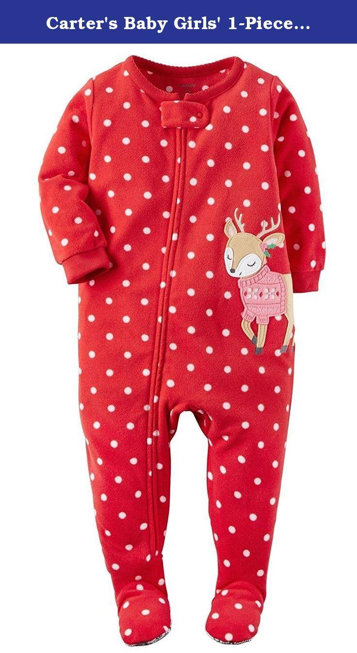 774bba32d Carter s Baby Girls  1-Piece Fleece Christmas Pajamas (6 …