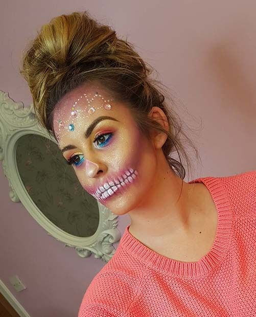 23 Skeleton Makeup Ideas for Halloween Skeleton makeup, Makeup - cute makeup ideas for halloween