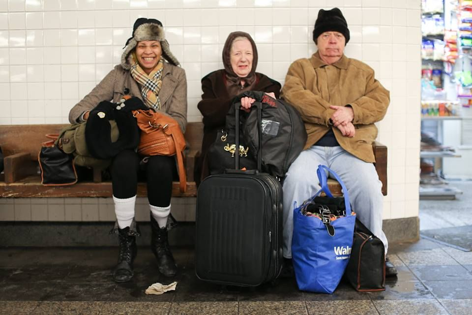 """""""I read the blog every fucking day. I just came in on a bus from Maryland. The whole time I was thinking: 'I'm going to find a cute old couple, I'm going to park next to them, and I'm going to get on HONY!'"""""""