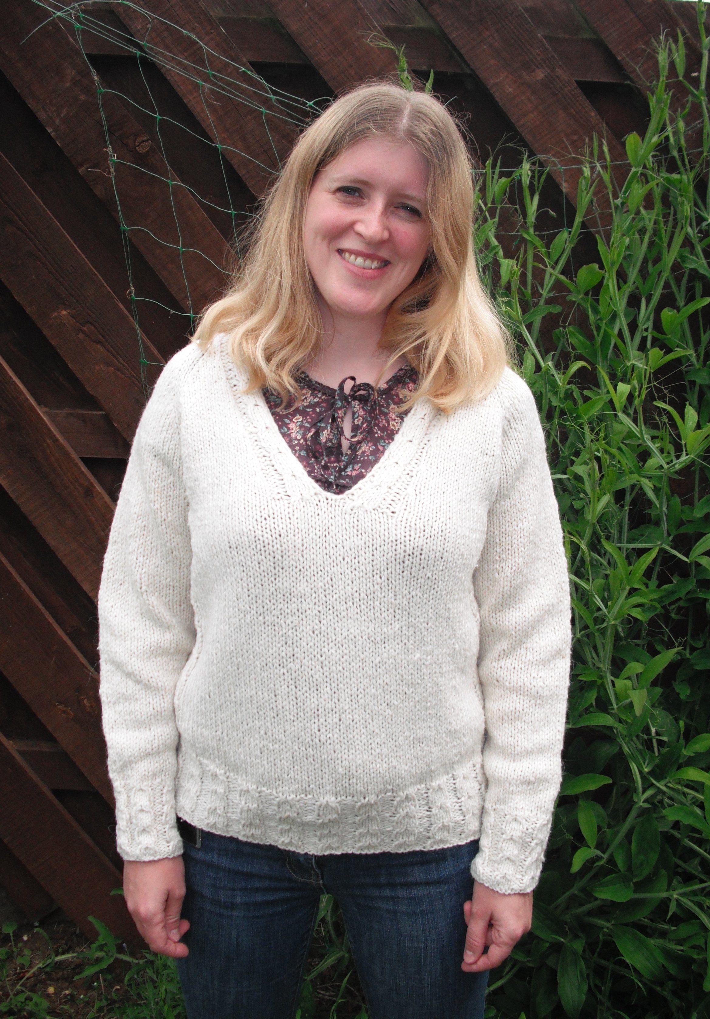 Free Knitting Pattern - Women\'s Sweaters: Chunky with a Twist   bob ...