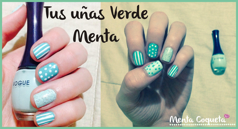 nail art verde menta - Buscar con Google | Uñas y pelos | Pinterest ...