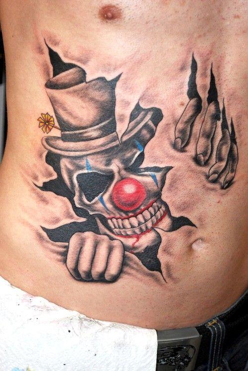 8986b36c2d29b Pin by Curt Bull on Tattoo   Clown tattoo, Stomach tattoos, Tattoo designs