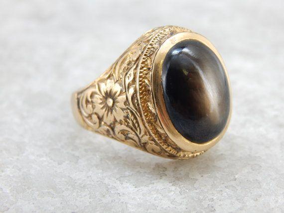 Benchmark Black Star Sapphire And Handmade Thai Gold Par Msjewelers Anillos De Piedra Disenos De Joyeria Anillos