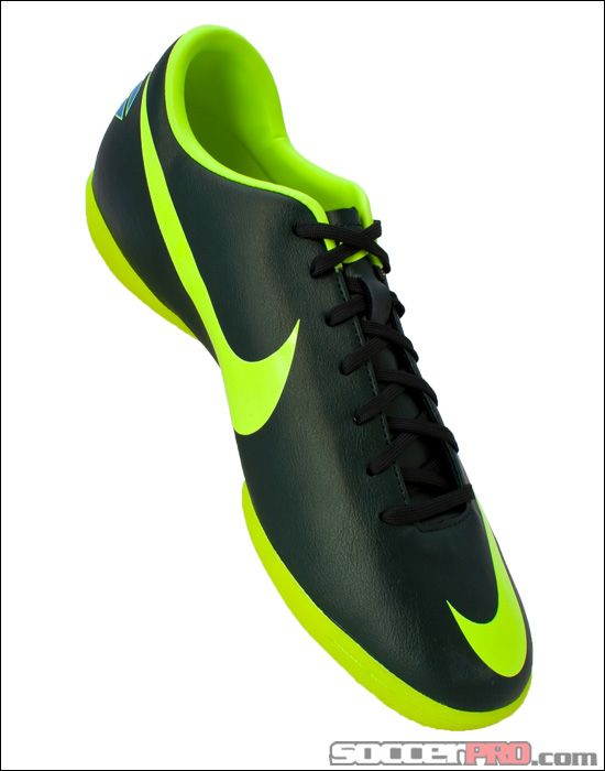 Nike Mercurial Victory III Indoor Soccer Shoes - Seaweed with Red and Volt...$58.49