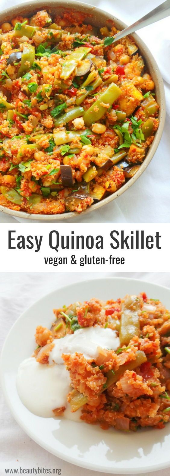 Quinoa Dinner Skillet Easy Vegan Meal Prep