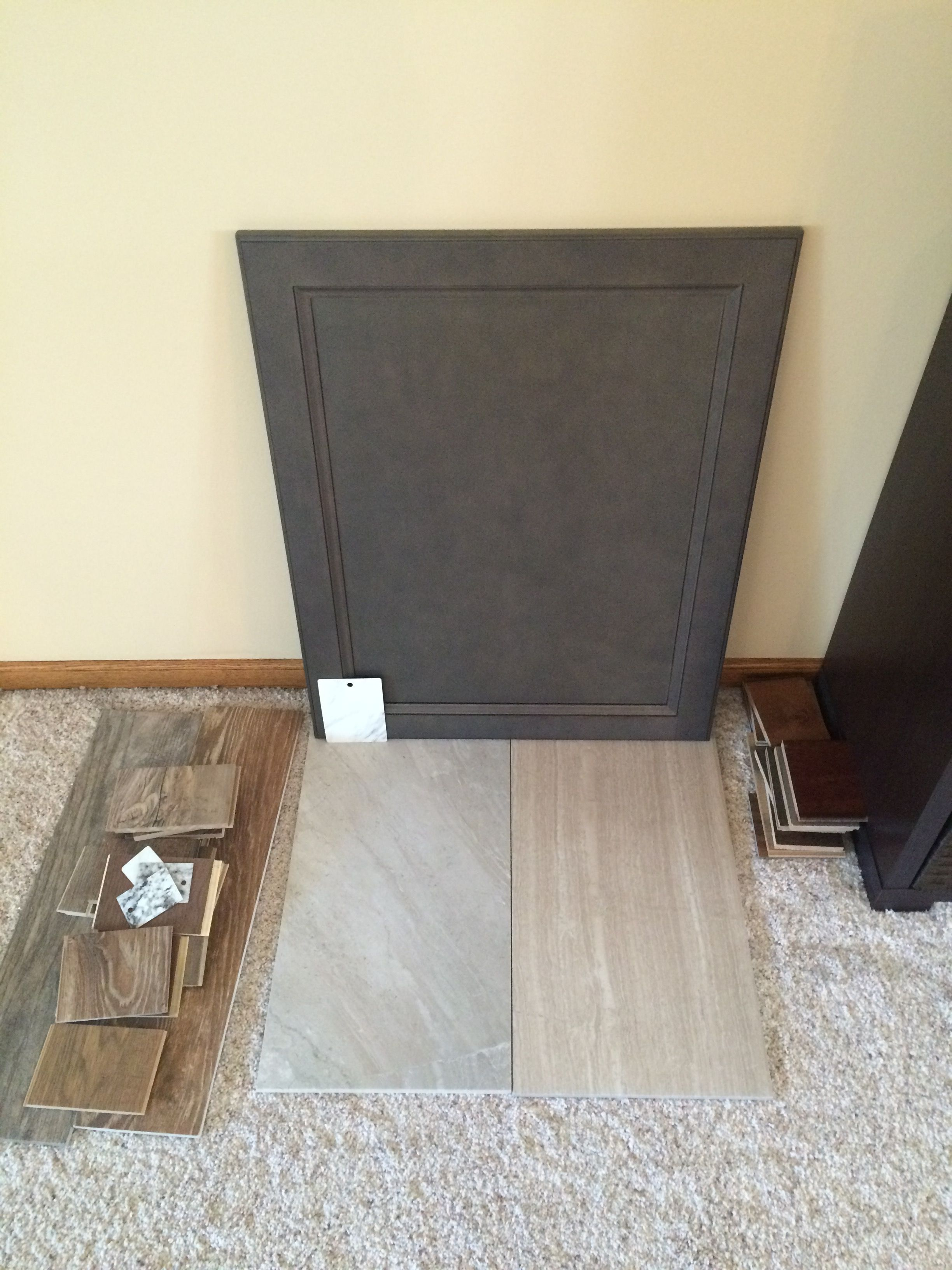 West Point Grey Cabinet And 2 Samples Of 12x24 Tile Grey Cabinets Faircrest Cabinets Grey Kitchen Cabinets
