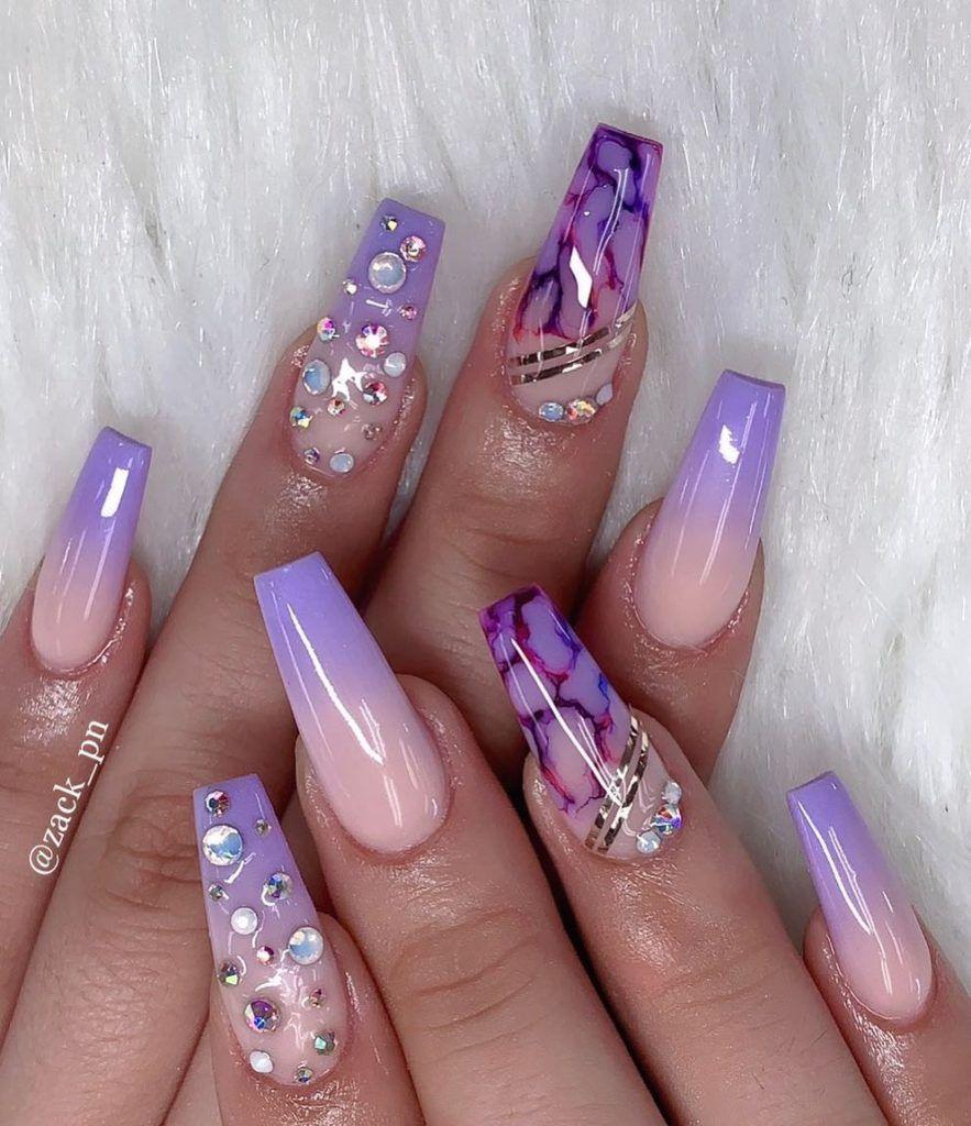 20 Impressive Purple Nail Art Designs Ideas Letmebeauty Net Purplenails Nailart Purplena Purple Nail Art Designs Purple Nail Designs Purple Acrylic Nails