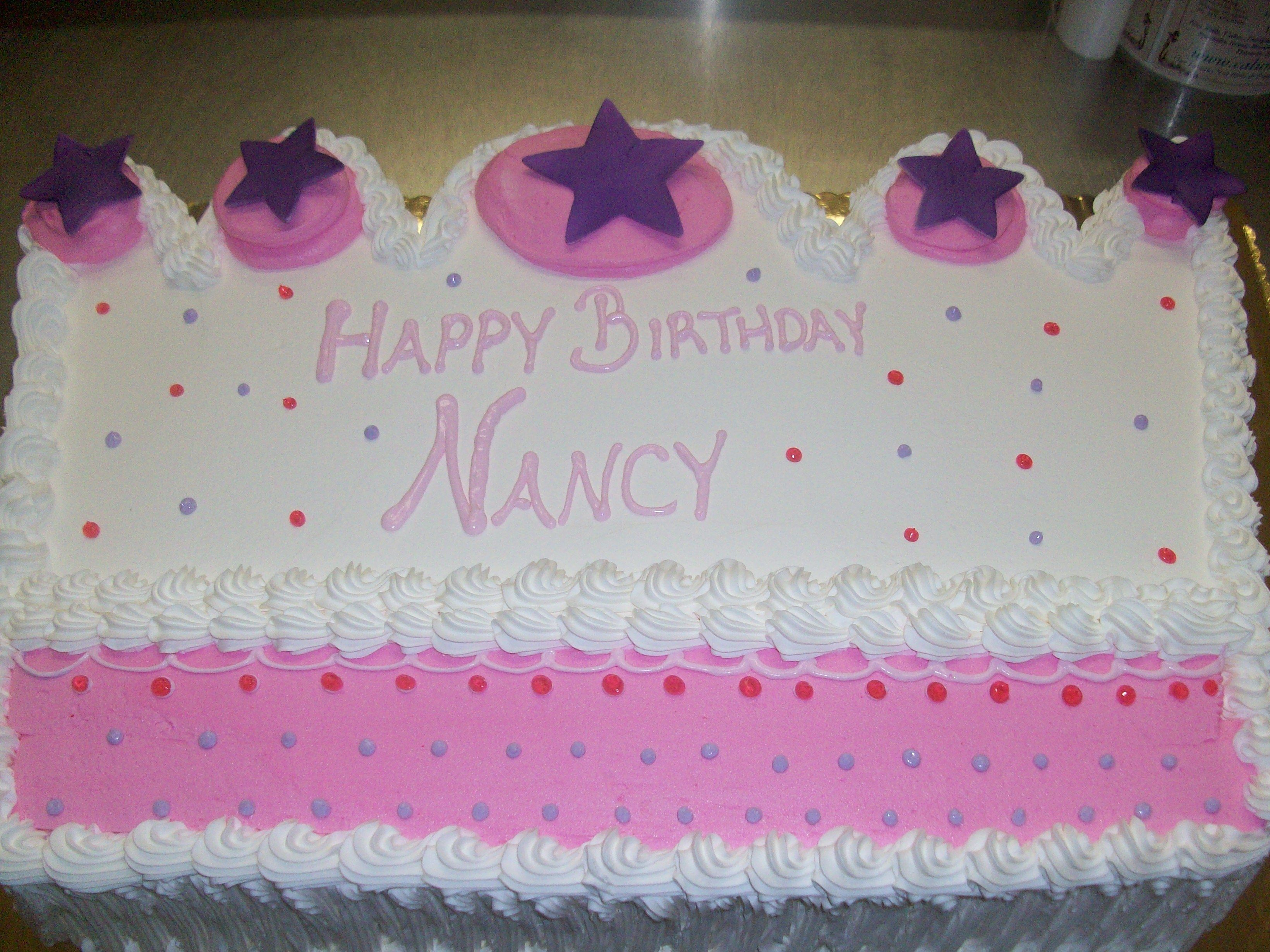 Calumet bakery crown shape on sheet cake girl decor