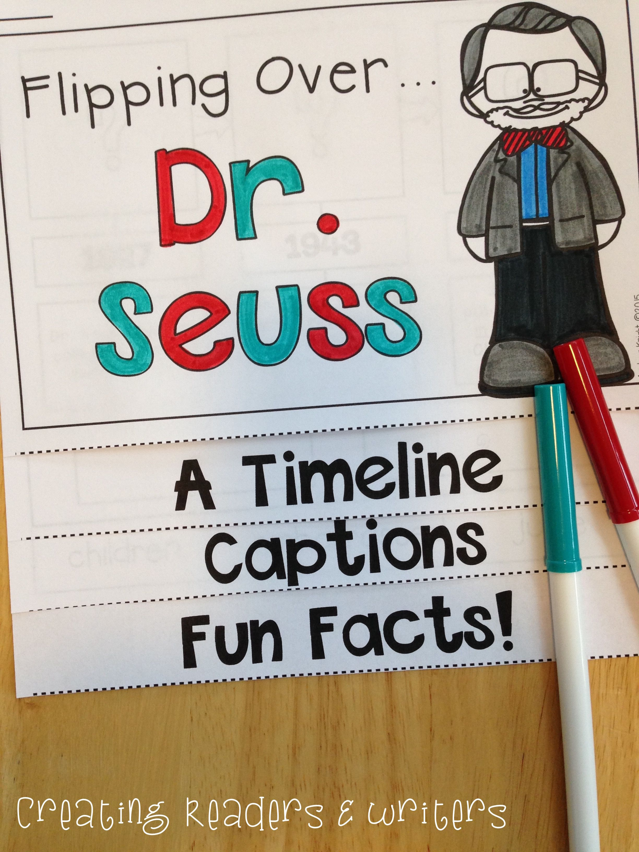 Dr Seuss A Biography Project For Primary Children