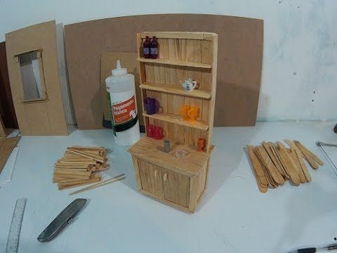 Como hacer un mueble tocador de ba o para mu ecas parte 3 - Como hacer un mueble de bano rustico ...