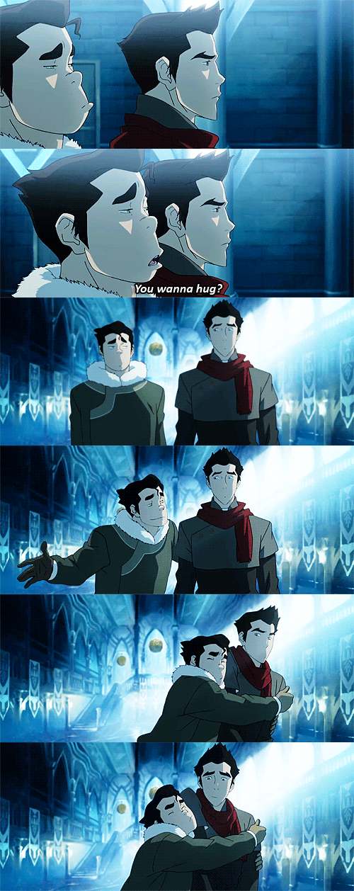 """I love how at first his face is like""""No Bo what are you doing?"""" and then goes to """"Omg best brother ever"""""""