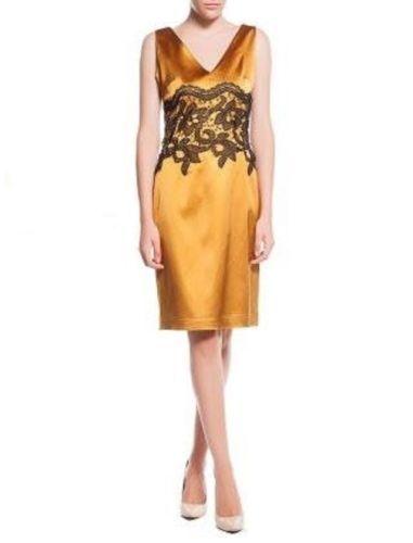 Bleistiftkleid-goldblond-satin-polished-Kleid-Abendkleid ...
