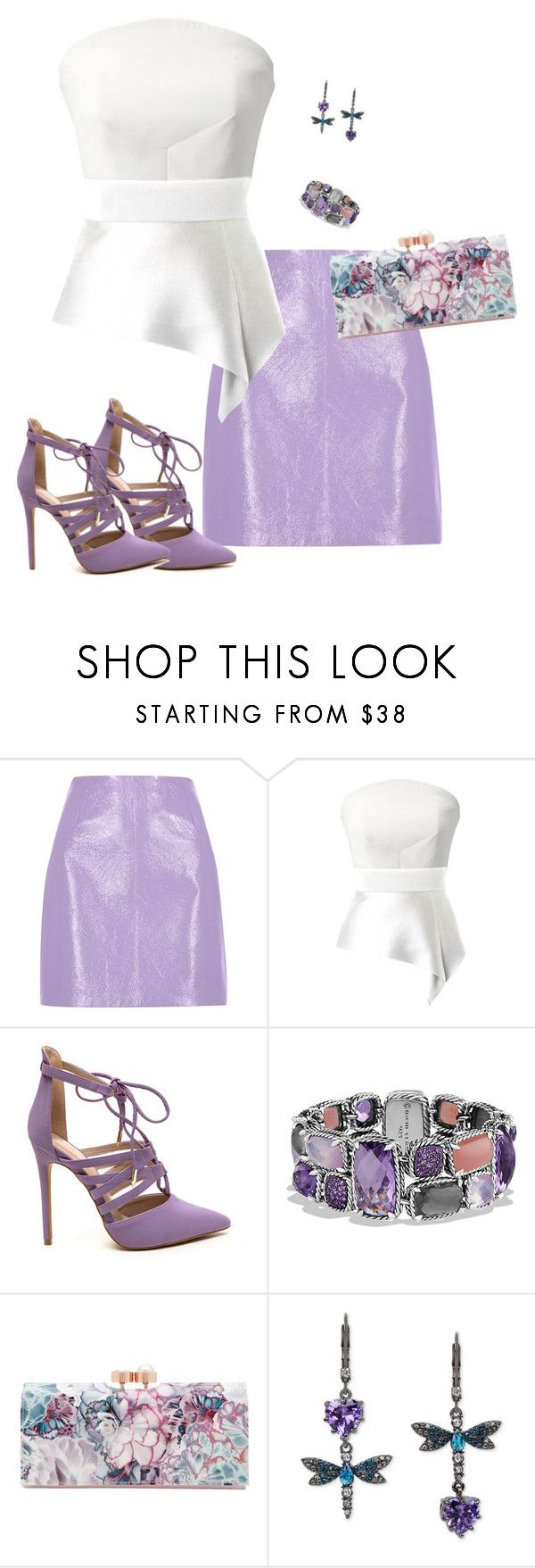 """""""So Hot in Here"""" by toots2271 ❤ liked on Polyvore featuring River Island, Roland Mouret, David Yurman, Ted Baker and Betsey Johnson"""