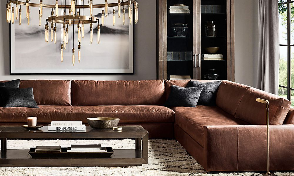 Super Shop Maxwell Leather Sectional In 2019 Restoration Evergreenethics Interior Chair Design Evergreenethicsorg