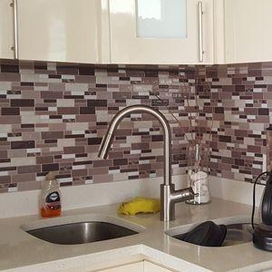 A17006 Peel N Stick Tile Backsplash Bathroom Wall Tiles 10 Pieces