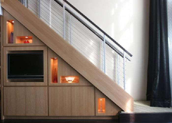 Storage Space Under Stairs Ideas for TV Cabinet and Interior & Storage Space Under Stairs Ideas for TV Cabinet and Interior ...