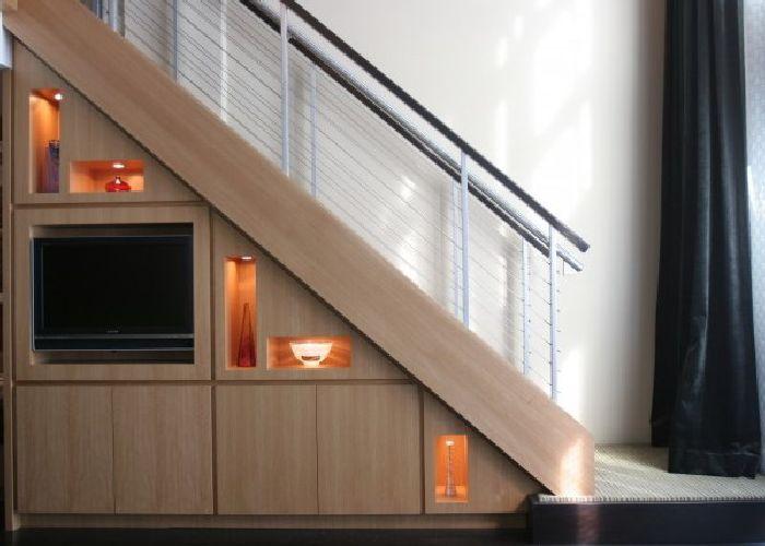 Storage Space Under Stairs Ideas For Tv Cabinet And Interior | Cabinet Design Under Stairs | Kitchen | Interior Design | Houzz | Stairs Storage Ideas | Understairs Storage