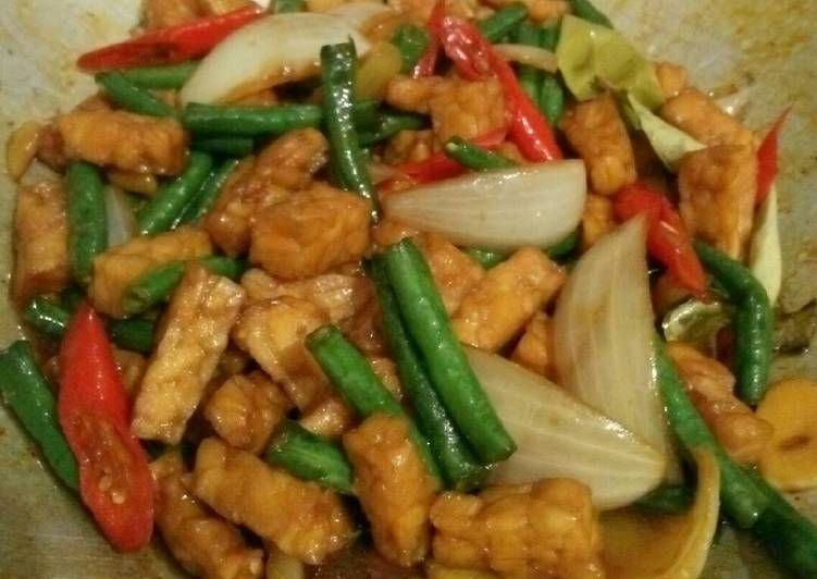 Resep Tumis Tempe Kacang Panjang Oleh Krisna Vidya Resep Tumis Resep Masakan Indonesia Resep Makanan