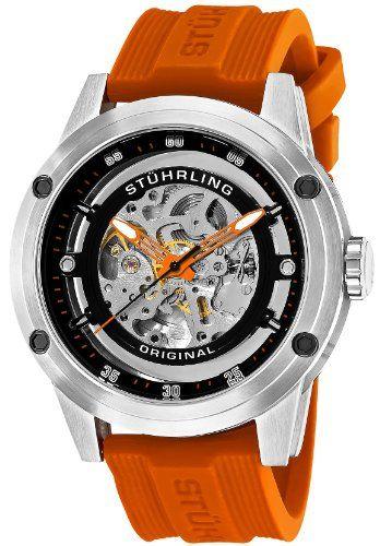 Stuhrling Original Men`s 314R.3316F57Set Leisure Zeppelin 360 Sport Automatic Skeleton Rubber Strap Set Watch: Watches: Amazon.com
