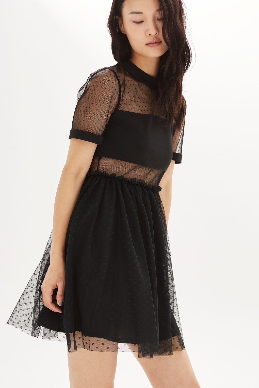 Spot Mesh Tulle Prom Dress - Dresses - Clothing - Topshop 6389443f5