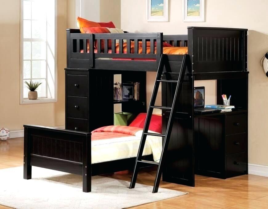 Kinder Loft Betten Mit Schreibtisch Und Lagerung - Loft Betten Mit - rattan schlafzimmer komplett