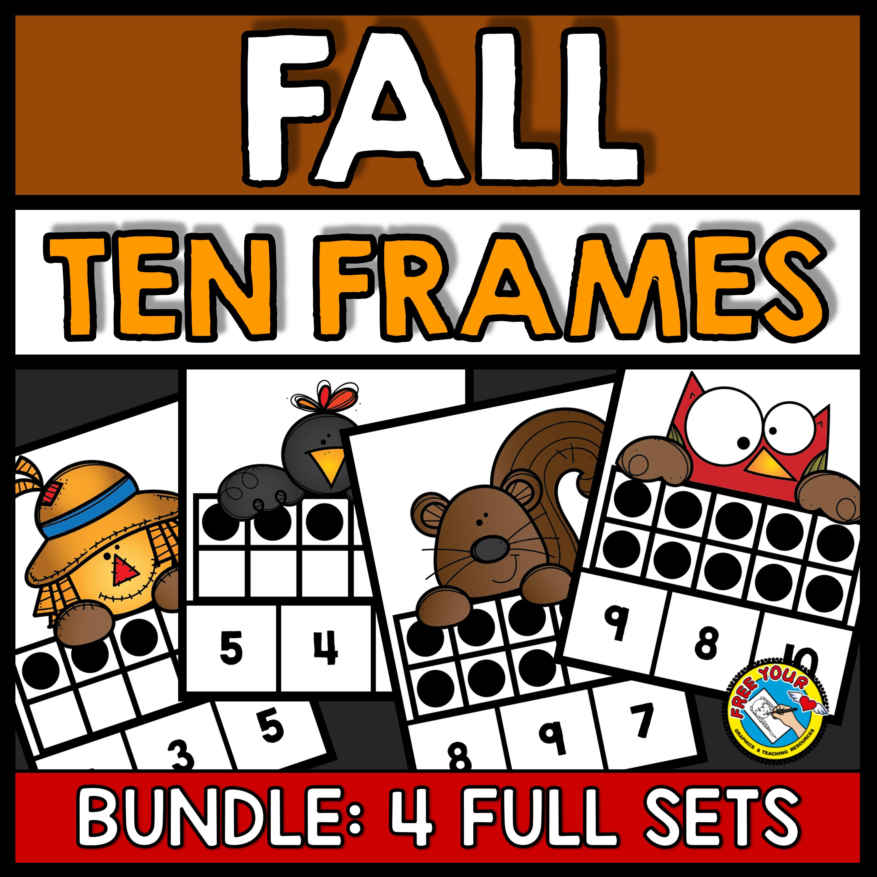 Fall Activities Kindergarten Preschool Math Ten Frames